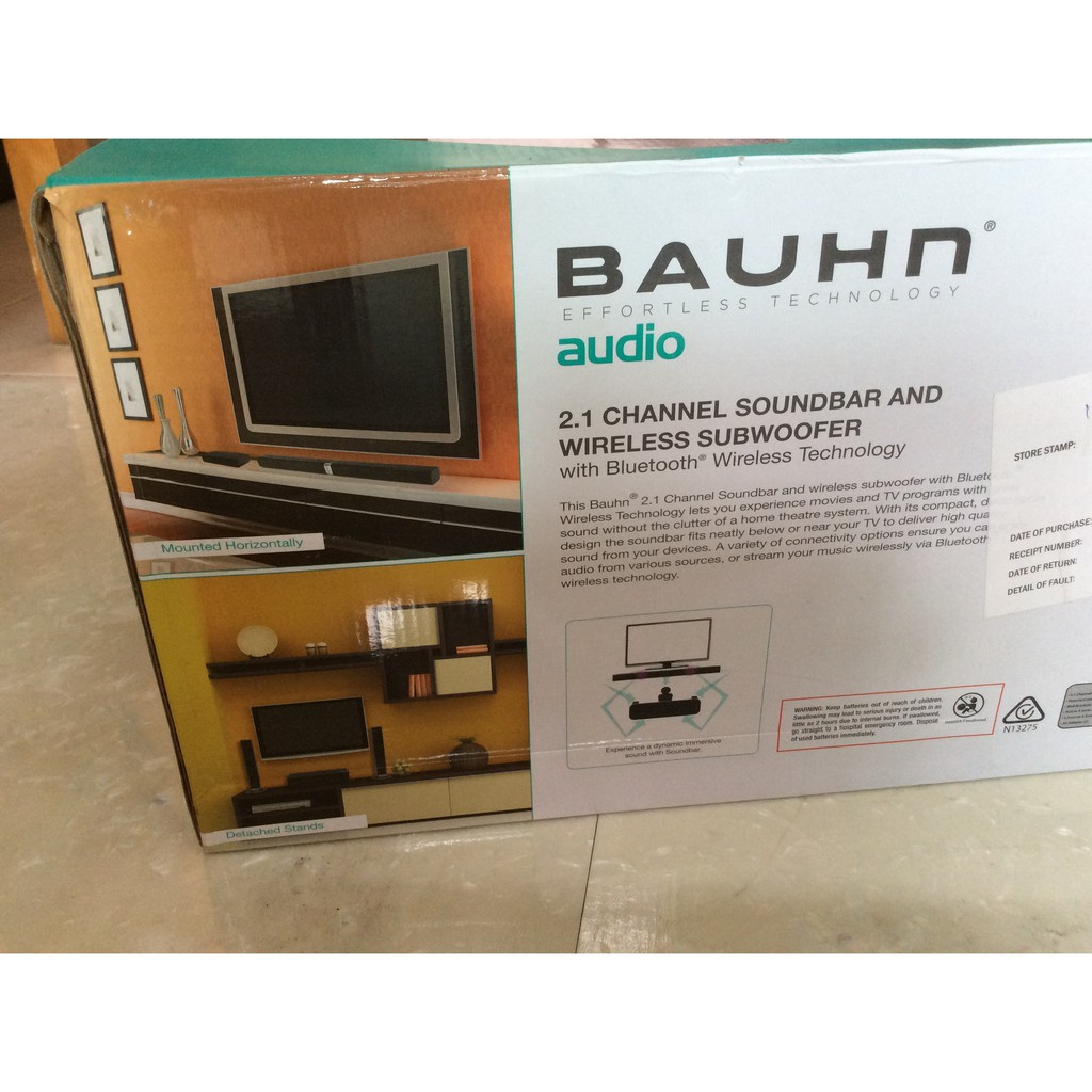 2 1 channel soundbar and wireless subwoofer with bluetooth  home theatre shelf bauhn diagram #6