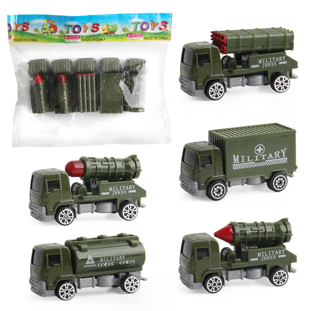 Kids Diecast Model Car 1:64 Army Cars// Fire Trucks// Engineering Trucks Model Set
