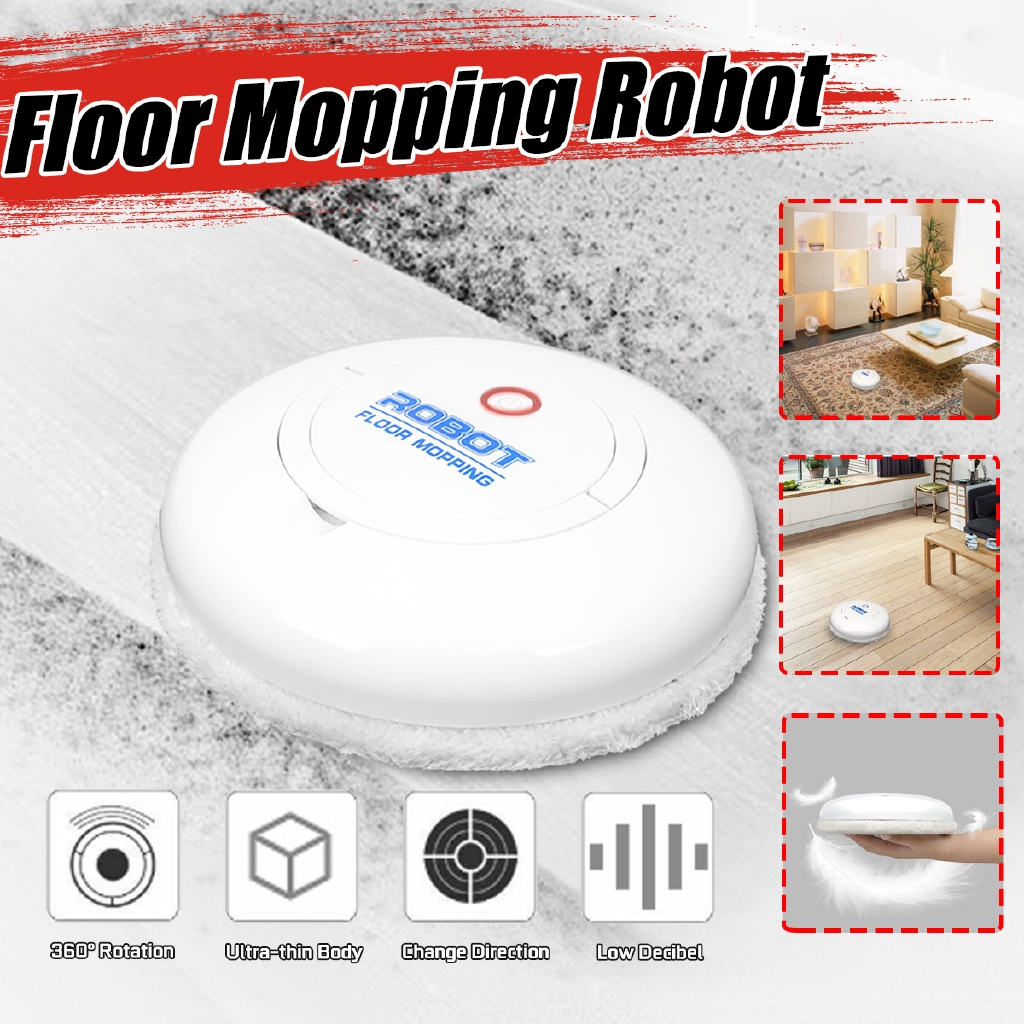 Smart Robot Vacuum Cleaner Automatic Induction Rechargeable Floor Mopping  Cloth