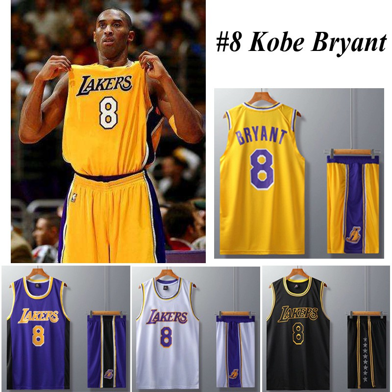 NBA Los Angeles Lakers Jersey 8 Kobe Bryant Jersey Men's Tops ...