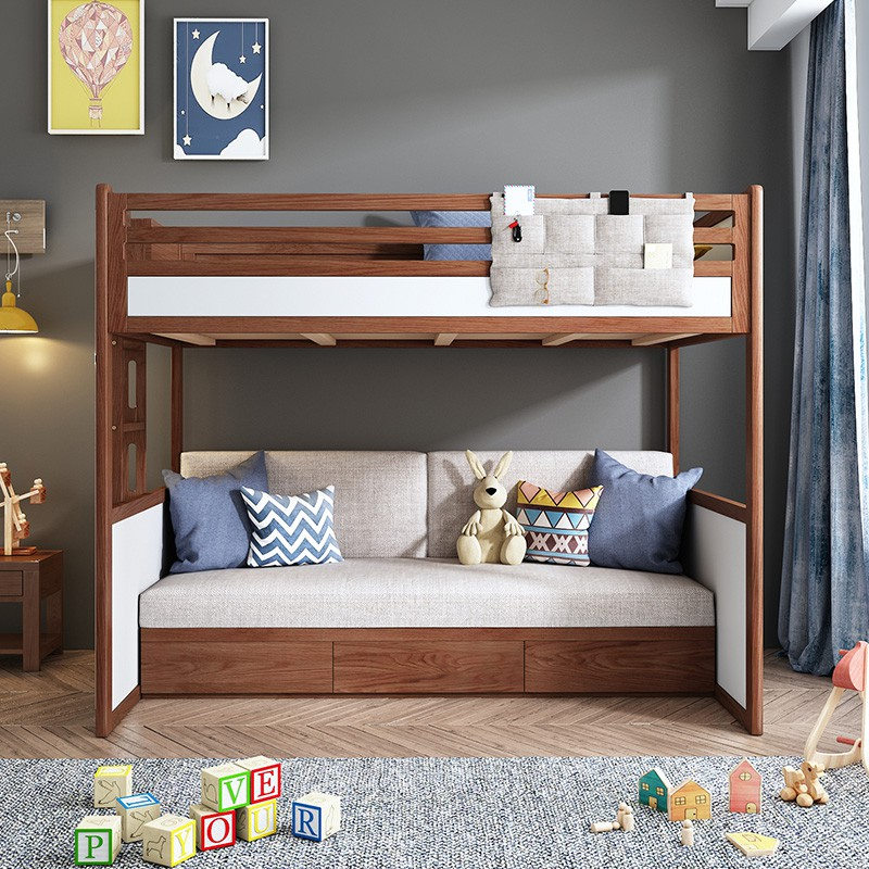 Free Shipping Bunk Bed Bedroom Furniture Bed Multifunctional Double Bed With Drawer Sofa Bed Shopee Singapore