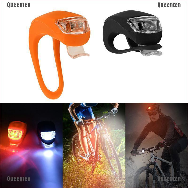 4Pcs Silicone Bicycle Bike Cycle Safety LED Head Front /& Rear Tail Light Set NEW