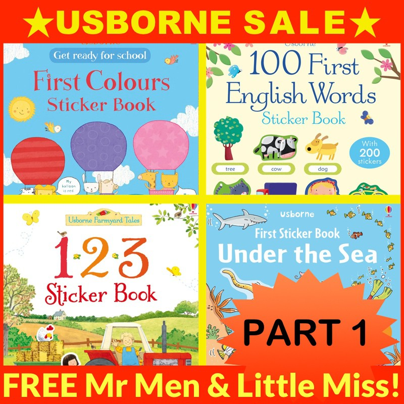 Usborne Sticker Books PART 1 of 2 (ships within 24 hours)