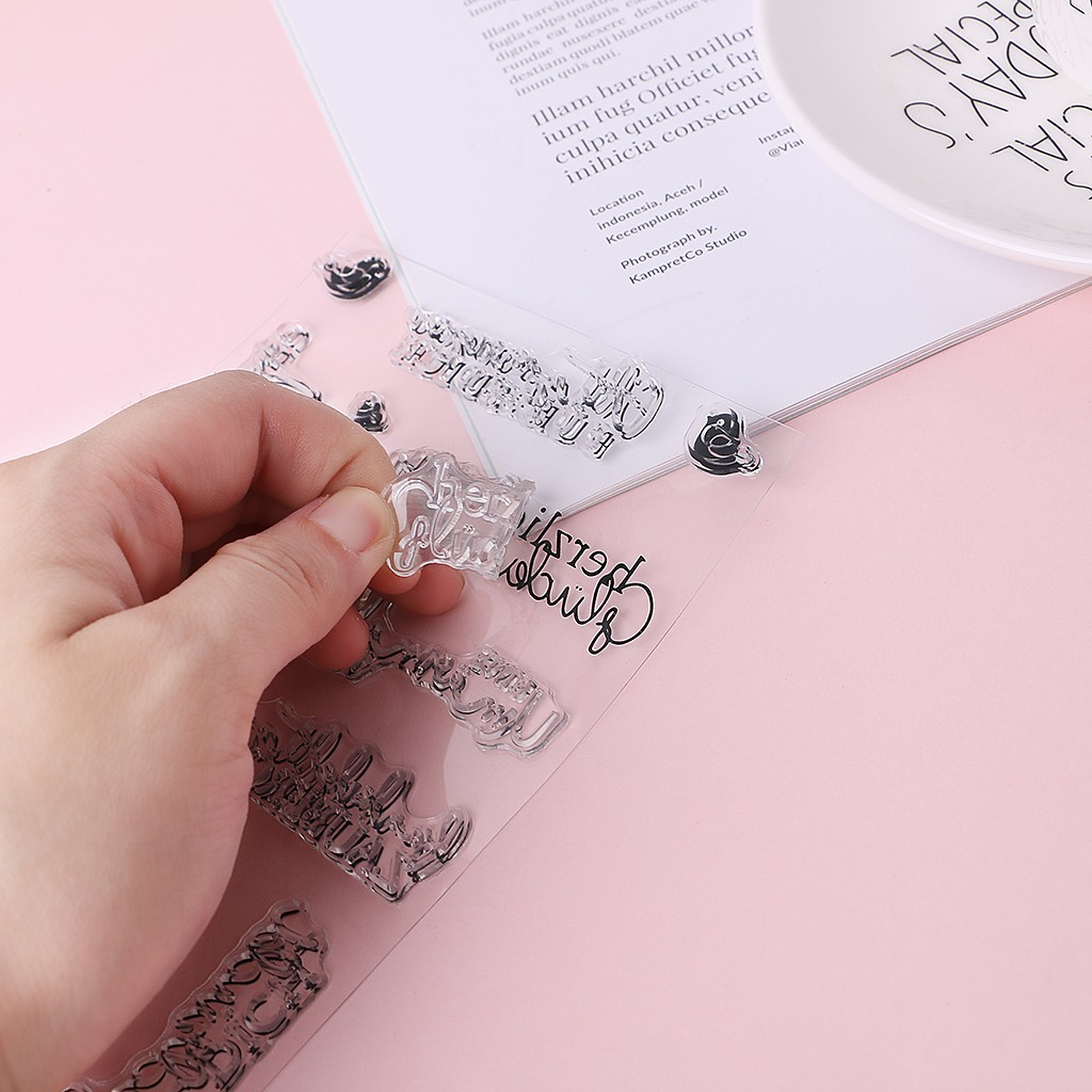 Month DIY Silicone Clear Stamp Cling Seal Scrapbook Embossing Album Decor Crafts RUZYY Clear Stamps
