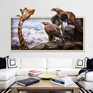 Hsw 3d Wandtattoo Wandaufkleber Wandsticke Wald Giraffe Pandab