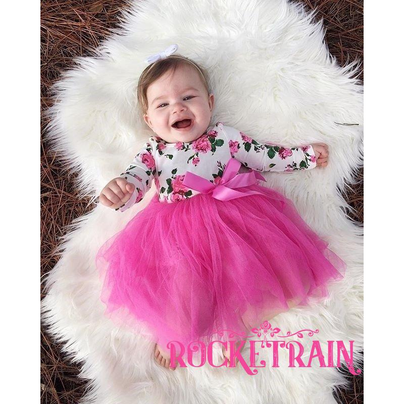 Newborn Toddler Baby Girls Infant Tulle Romper Jumpsuit Bodysuit Clothes Outfits