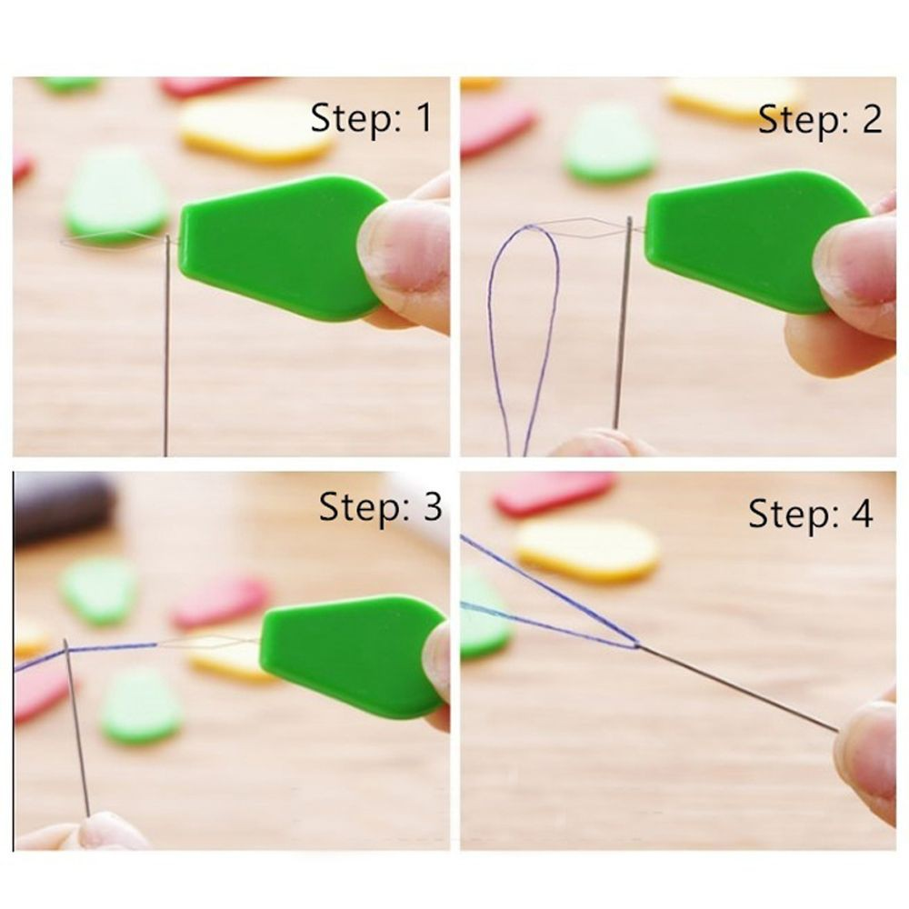 Sewing Machines Wire Leader Easy Sewing Cross Needle Threader Stitch Tools