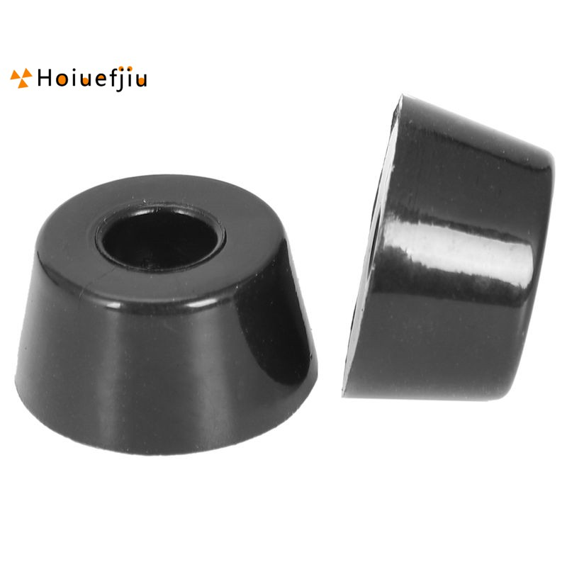 Fast Deliver Conical Rubber Furniture Bumper Foot Cover Pad 15 X 18mm 40pcs Black Furniture Accessories