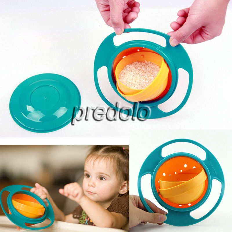 Baby Kids No Spill Food Gyro Bowl Good Heat Preservation Cups, Dishes & Utensils