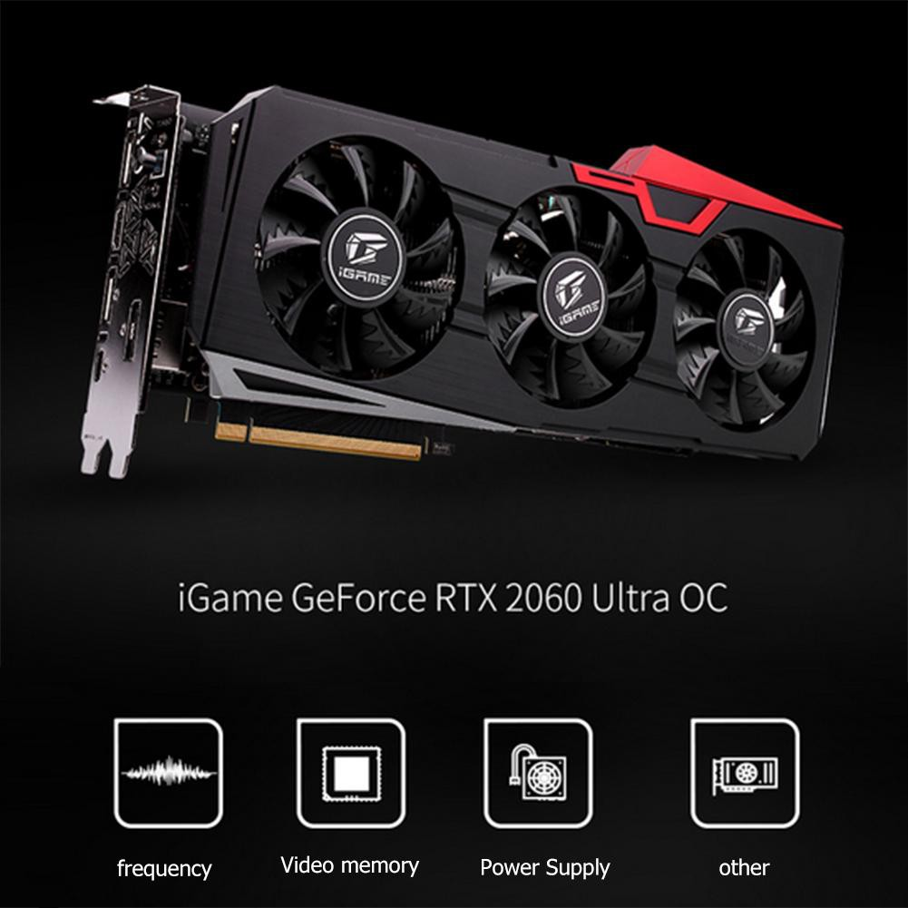 ♦Colorful iGame GeForce RTX 2060 Ultra OC Graphics Card 6G GDDR6 Video Card