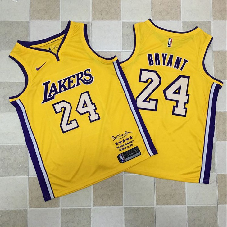 Nice Nike Lakers  8 Kobe Bryant Gold NBA Swingman