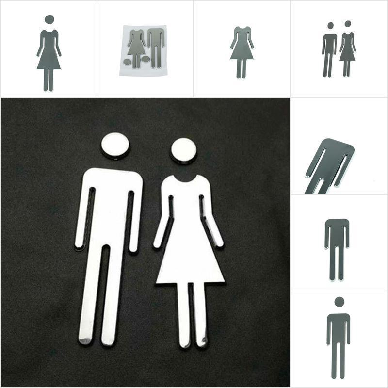 Men/&Woman WC Door Signs Decals Toilet Signs Restroom Washroom Signage PlaqueCN