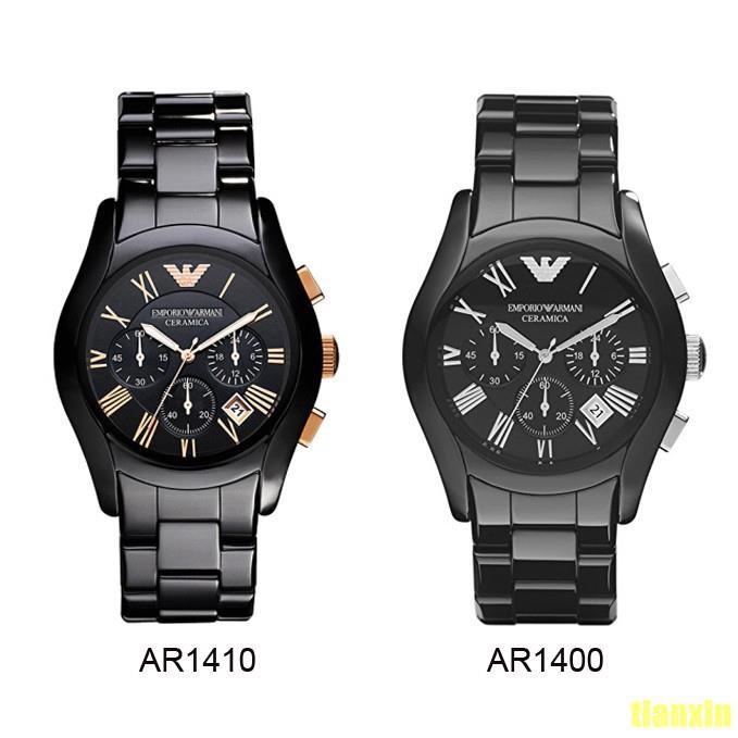 23ebdeb2 Original Emporio Armani Men's Ceramic Black Chronograph Dial Watch  AR1410/AR1400