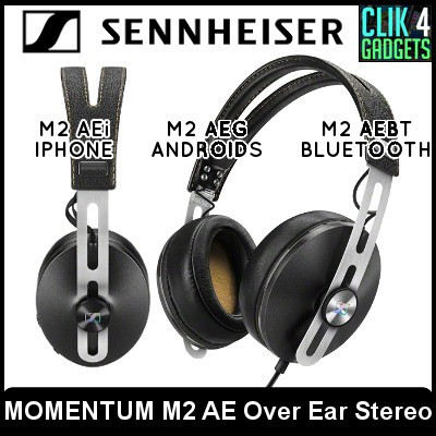 Sennheiser MOMENTUM M2 AE Over Ear Stereo Headphones/iphone android  bluetooth