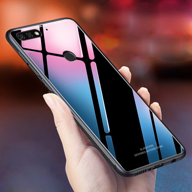 Huawei Nova 2 Lite Tempered Glass Hard Case Glossy Mirror Shockproof Back Cover