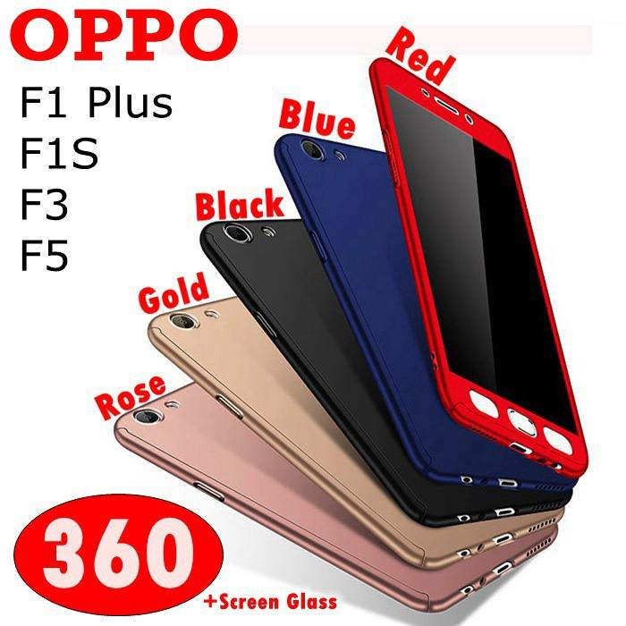 OPPO A53,A57,A59,A83,360 Full Cover Case +Tempered Glass | Shopee Singapore