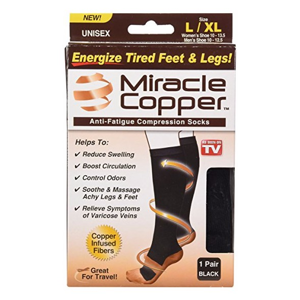 Miracle Copper Socks Anti-Fatigue Compression Socks (As Seen On TV) |  Shopee Singapore