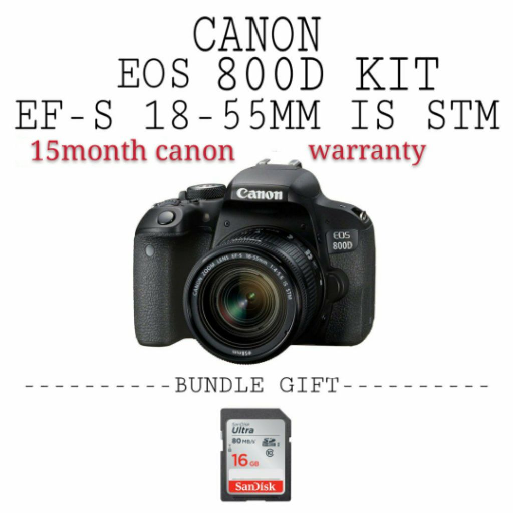 Canon Eos 800d 18-55mm kit
