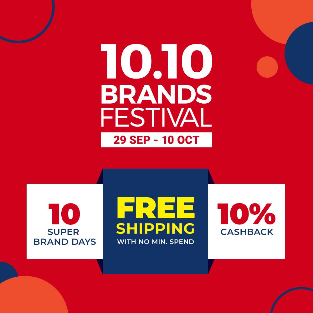 10 10 Brands Festival Sale 2019 10 Cashback Shopee Singapore