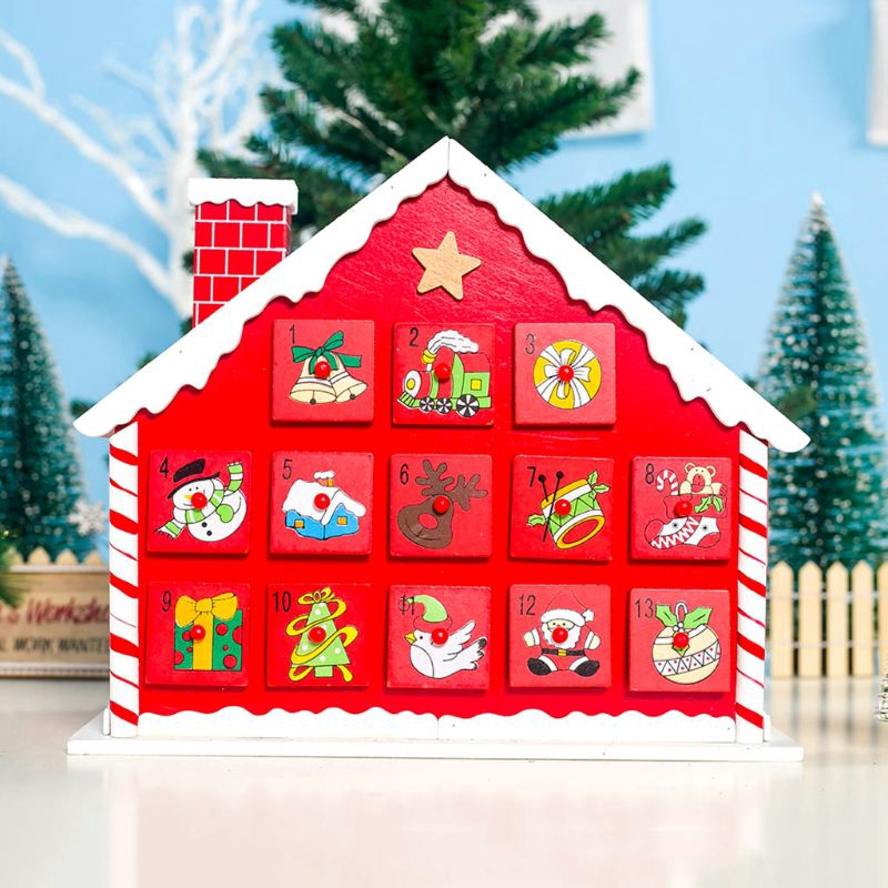 Wooden House Countdown Advent Calendar