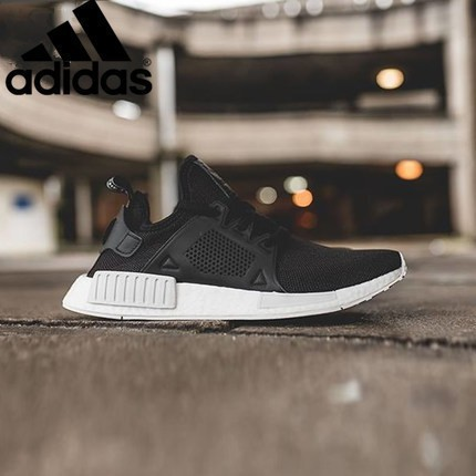 e3f7a224715 original Adidas nmd r2 Clover black and white casual running shoes ...