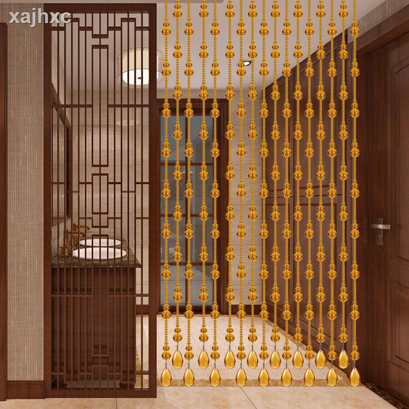 Full Color Amber Crystal Feng Shui Gourd Beads Curtain