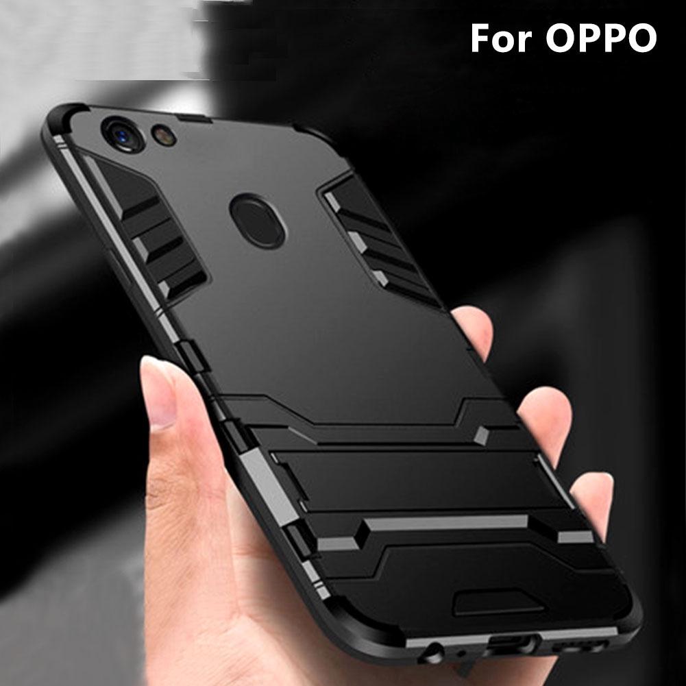 OPPO R17 Pro Shockproof Hybrid Slim Kickstand Hard Rugged Armor Phone Case Cover | Shopee Singapore