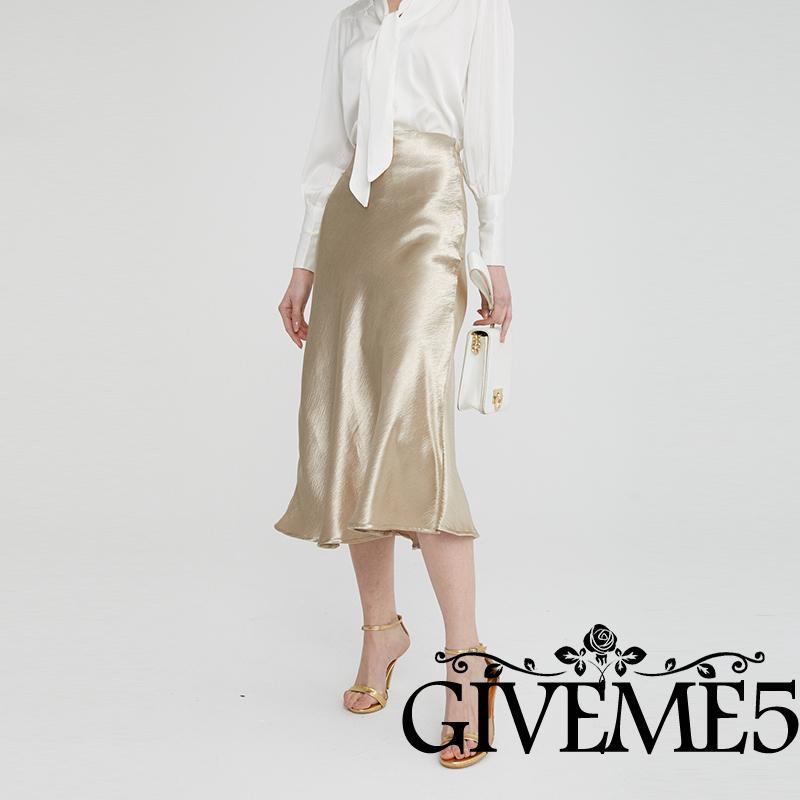 Women/'s Ladies Metallic Shiny PVC Wet Look High Waist Pencil Midi Skirts