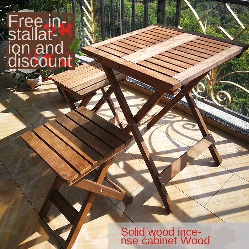 Chairs Set Of Solid Wood Leisure Garden