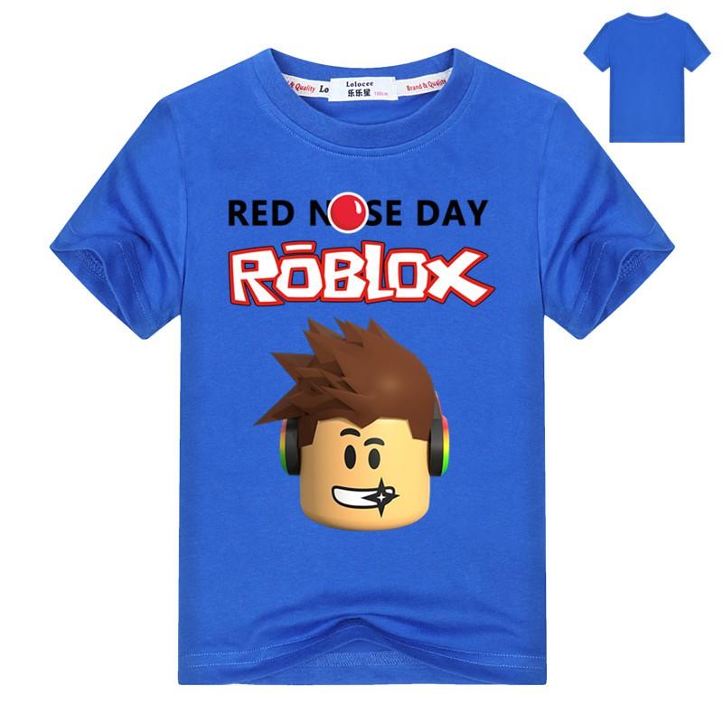 ff63c964e2489b Boys Classic T Shirt Roblox Character Head Video Game Graphic Tee Black Blue  Red