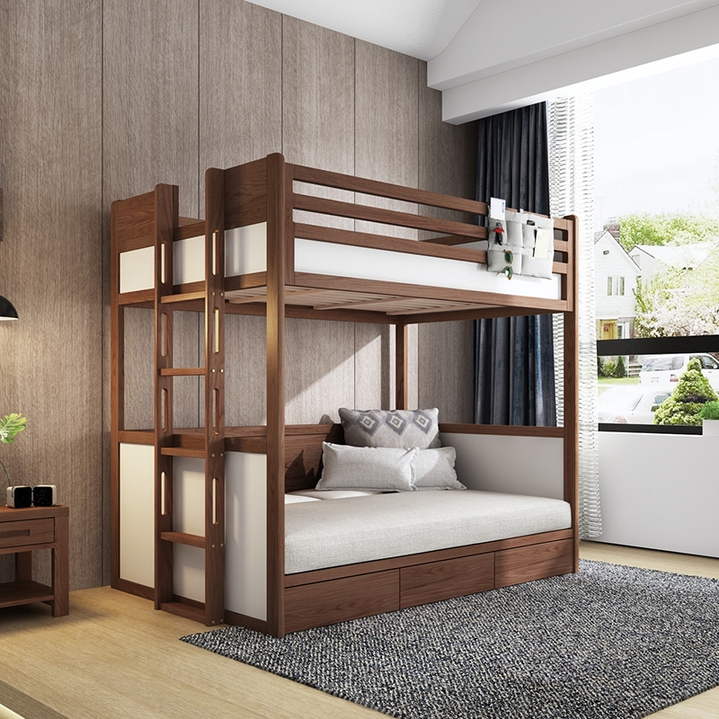 Bedroom Furniture Children Up And Down Bed Bunk Bed Solid Wood Multi Purpose Double High And Low Bed 1 2 Meters Shopee Singapore