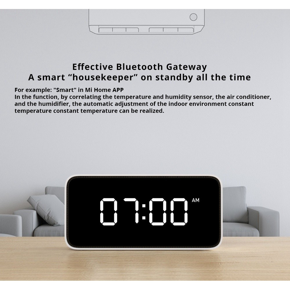 Xiaomi Mijia Xiao Ai Smart Voice Broadcast Alarm Clock work with mi
