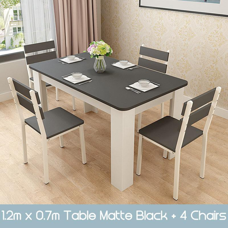 Gj Wooden Dining Table And Chairs Set