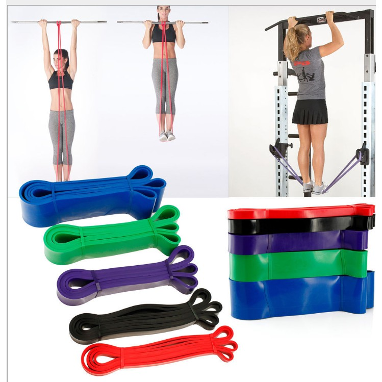 Pull Up Bands Resistance Loop Power Gym Fitness Exercise Yoga Strength Training