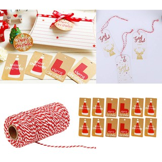 Christmas Gift Tags Diy.100 String Rope Kraft Paper Christmas Gift Tags Scrapbooking Diy Craft I204 Icor
