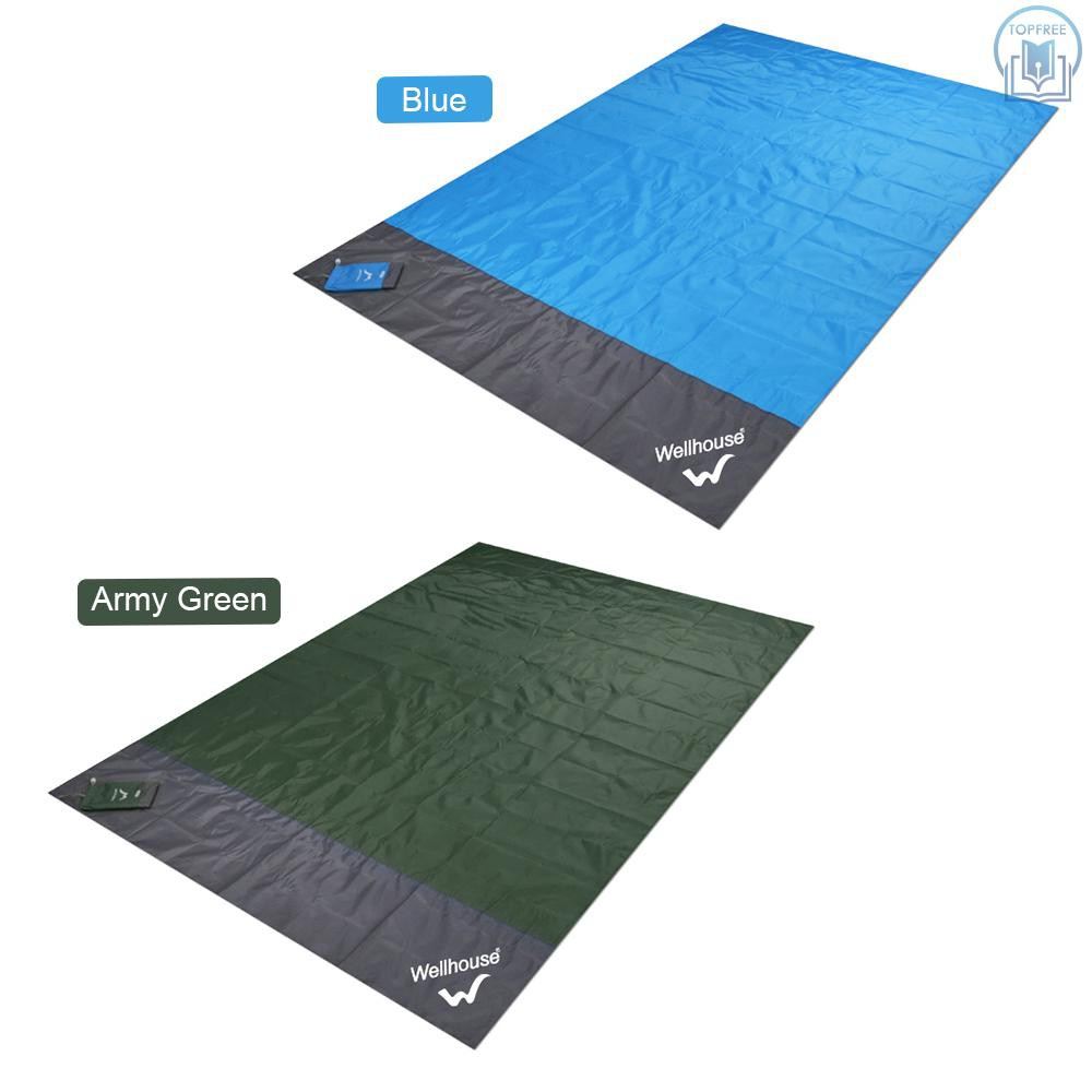 Waterproof Foldable Pocket Size BBQ Beach Blanket Camping Mat Color Optional