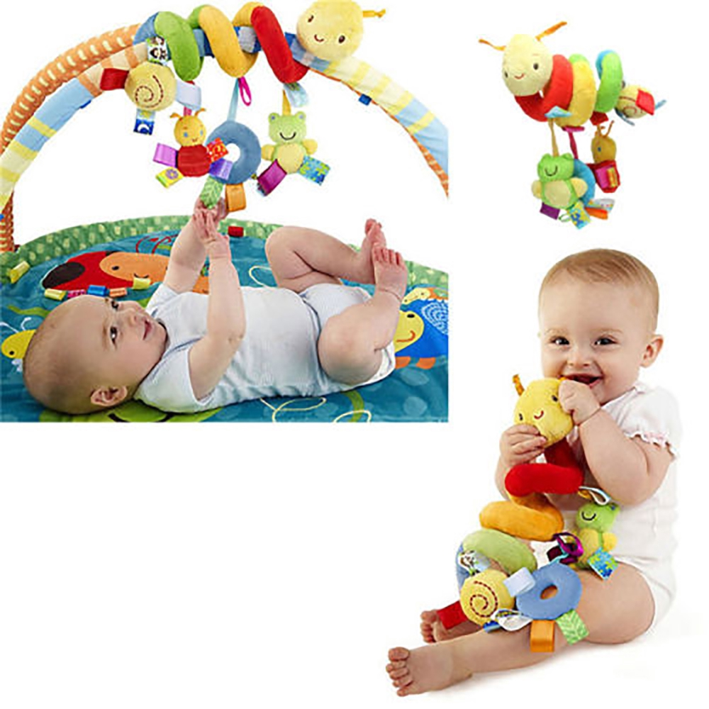 Toddler Baby Crib Cot Pram Hanging Spiral Toy Soft Education Toy Cute Toy