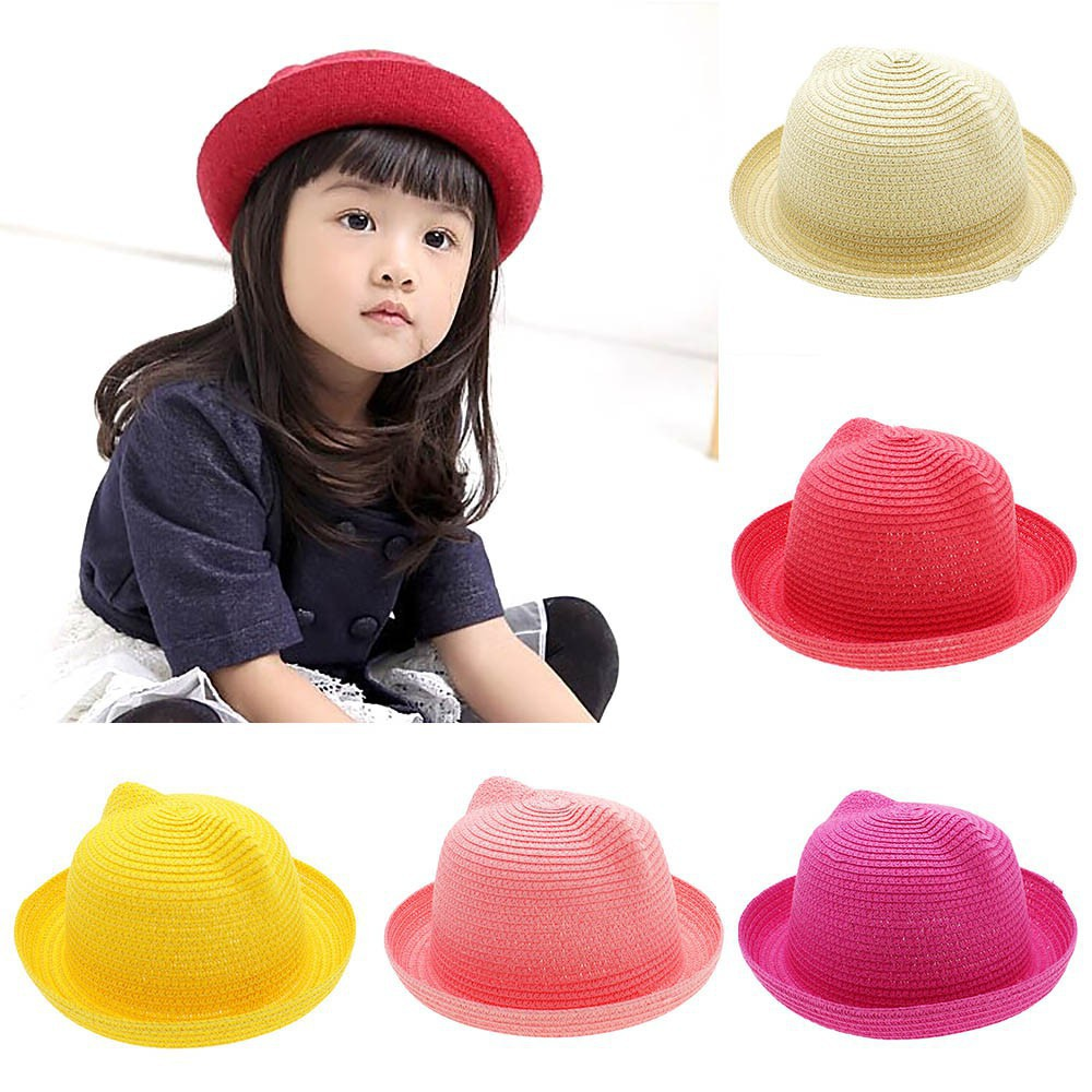 Hats & Caps Accessories Cute Summer Autumn Baby Girl Boy Hat Kid Children Cute Sunhat Straw Sun Hat Antler Beach Cap Hat