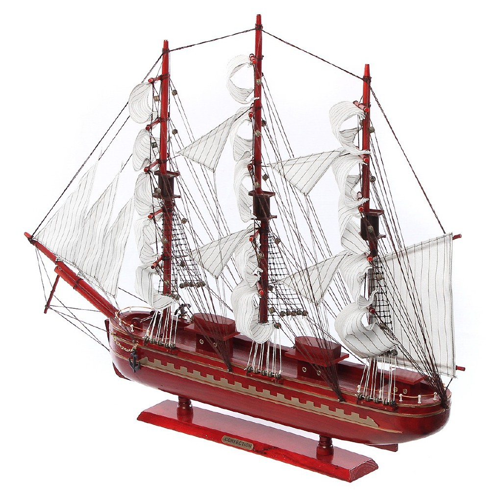Active Wooden Sailing Boat Building Kits Ship Model Wooden Sailboat Toys Sailing Model Assembled Wooden Kit Diy Decoration Toy Elegant And Sturdy Package Arts & Crafts, Diy Toys