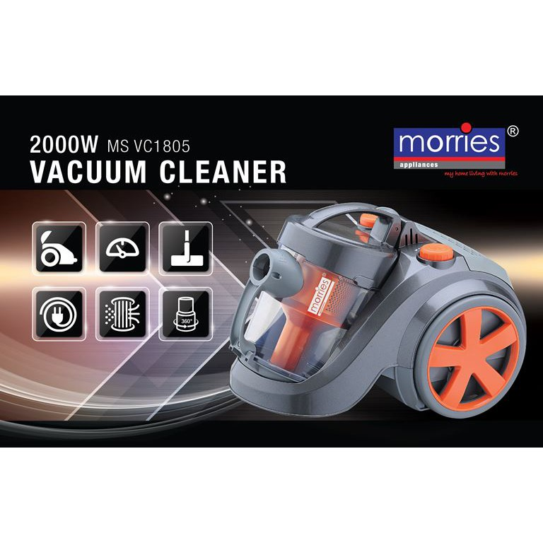 MORRIES 2000W VACUUM CLEANER MS-VC1805