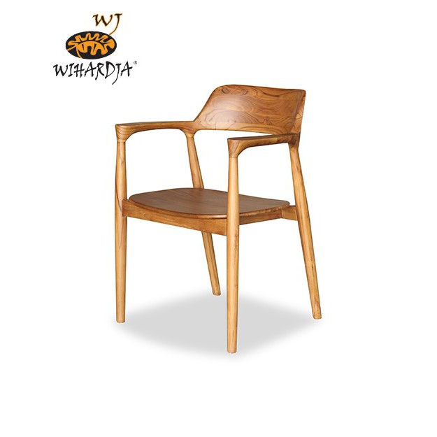 Danish Solid Teak Wood Malissa Dining Chair With Armrest For Scandinavian Dining Area Shopee Singapore