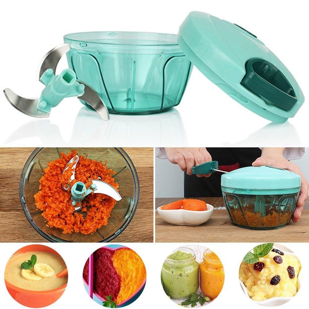 Hand-pull garlic kitchen Mincer Chopper Speedy Vegetable fruits ...