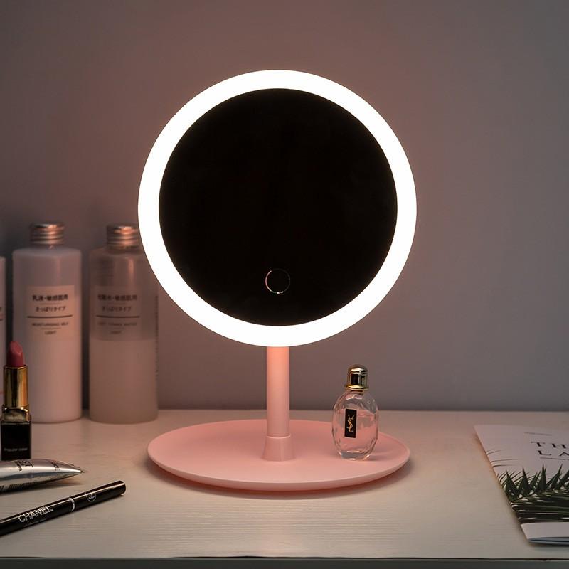 Minimalist Led Makeup Mirror Chargeable, Led Makeup Mirror Desktop