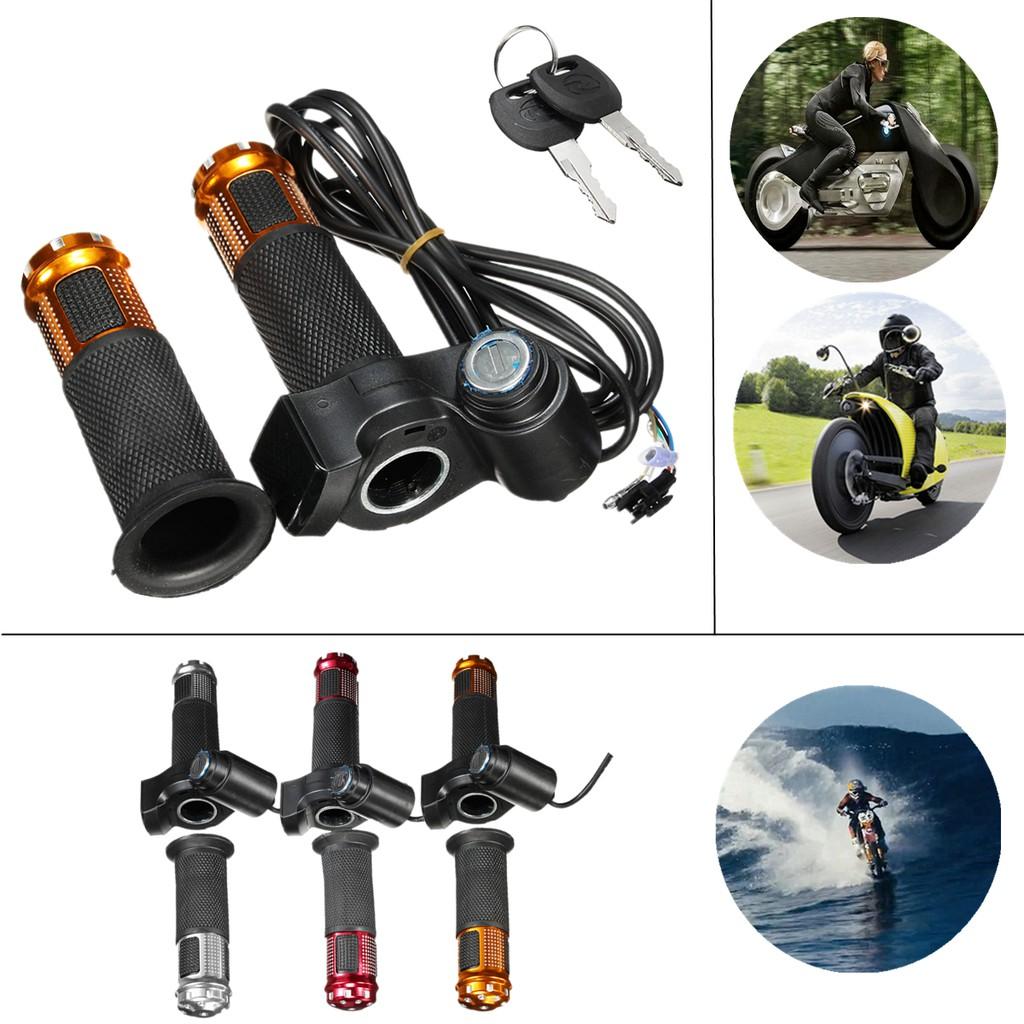 24V 36V 48V 3 Speed Electric Scooter Throttle Grip Handlebar LED Digital Meter