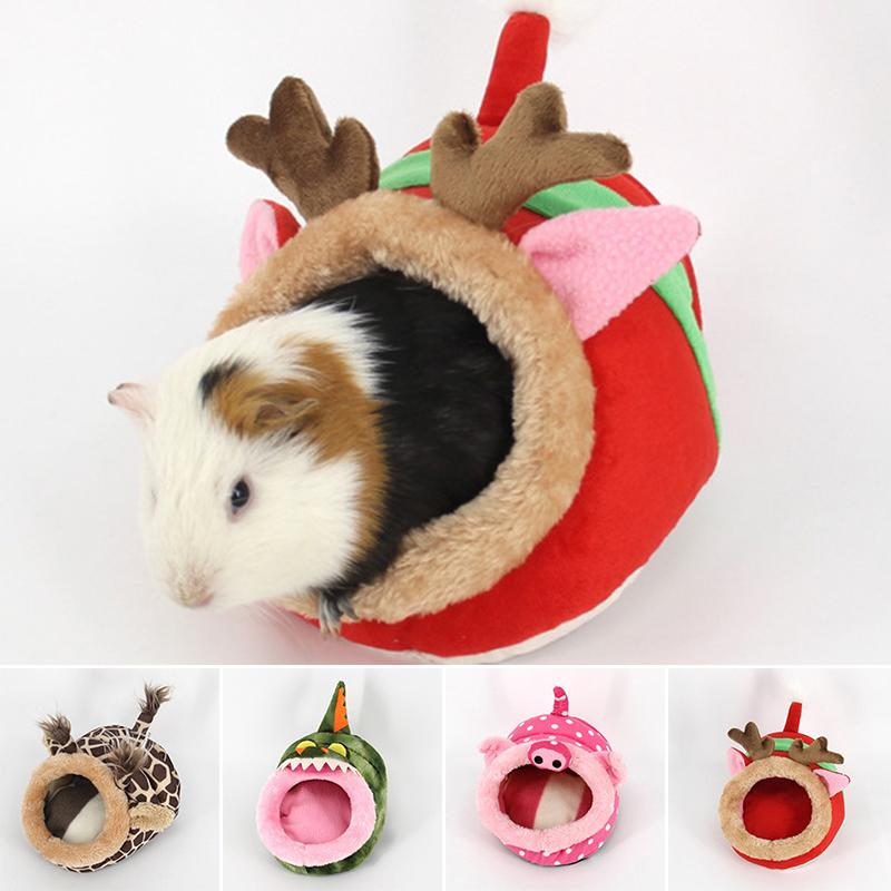 Uk Small Animals Soft Bed House Warm Nest Hamster Rat Guinea Pig Sleeping Bag
