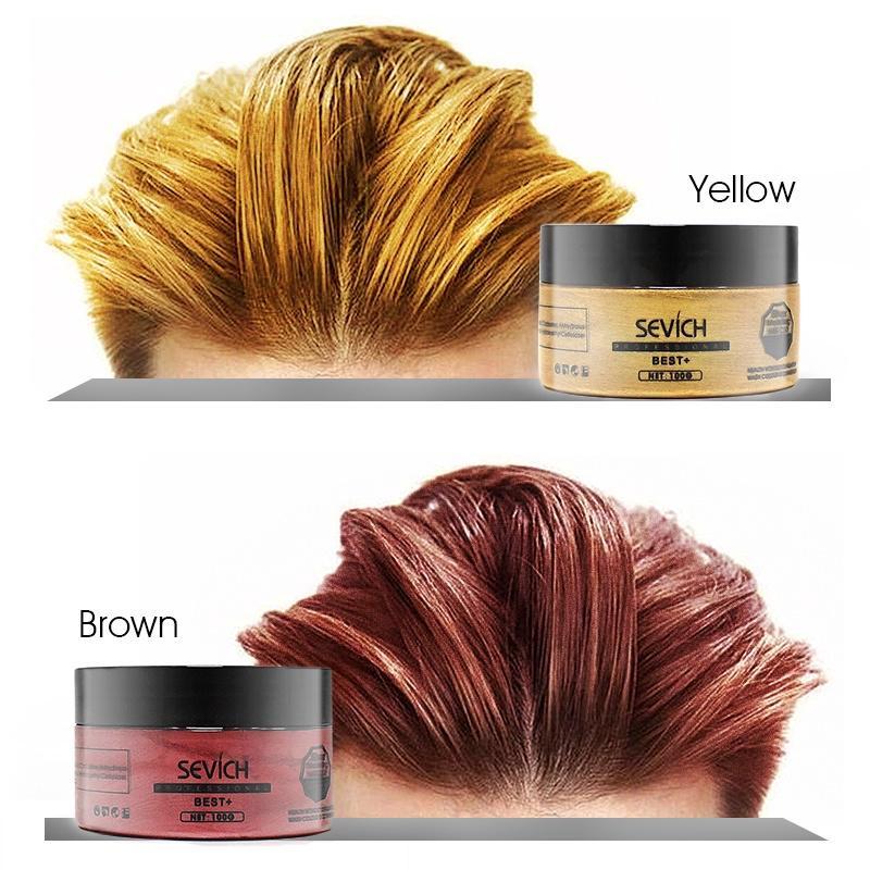100g Sevich Hair Colour Wax Hair Dye Mud Temporary Hair Styling Tool