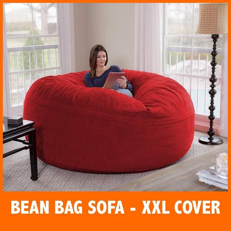 Xl Super Big Bean Bag Cover Sofa, Big Bean Bags For Living Room