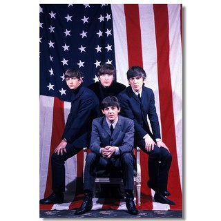 529 The Beatles Art Wall Cloth Poster Print