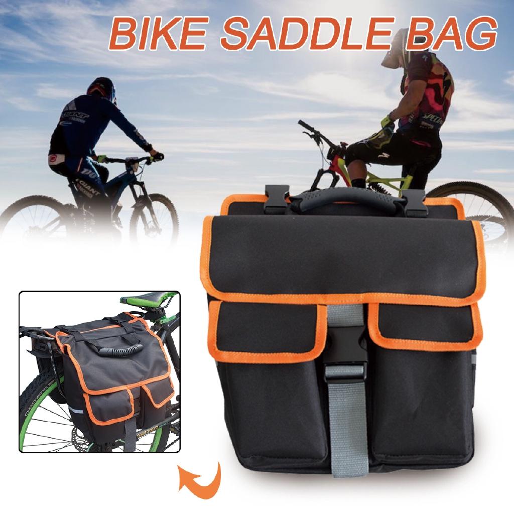 Waterproof Folding Bicycle Tail Rack Bag Mountain Bike Rear Seat Trunk Bags H1