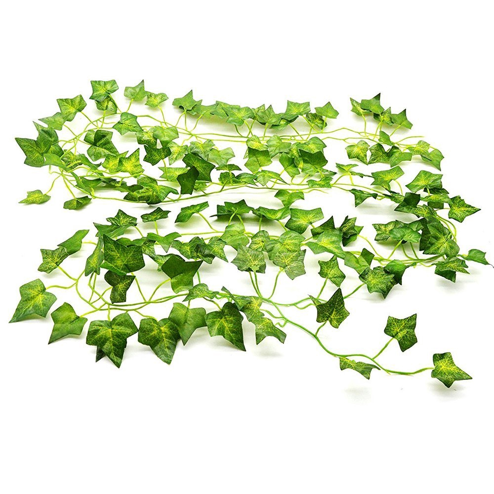 Corsion 1Pc Ivy Leaf A Artificia l Fake Leaves Hanging Vines Plant Leaves Garland Home Garden Poison Ivy Costume